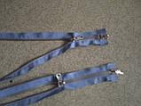 Застежка молния  голубая металл, фото 2