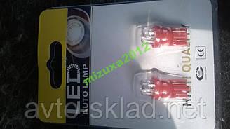 Світлодіоди бесцокольные 3 діода червоний габаритів