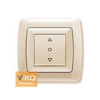 Кнопочный выключатель жалюзи 1-кл. крем ViKO Carmen