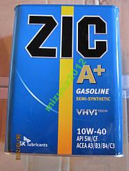 Масло моторное ZIC A+ 10W40 4л полусинтетика
