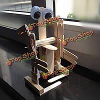 Поделки из дерева модель шагающий робот наборы творческий подарок игрушку для детей