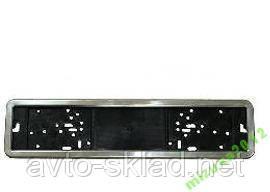 Номерная рамка под номера Vitol нержавеющая сталь