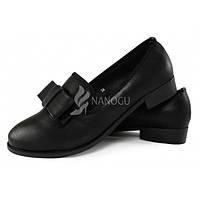 Туфли лоферы женские «Elisabeth» черные на низком ходу, Черный, 38
