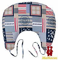 Подушка для кормления с завязками (холофайбер)