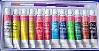 Набор акриловых красок для рисования Ваsics , 12 шт маленькие