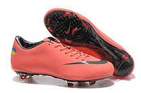 Футбольные бутсы Nike Mercurial Vapor (найк) оранжевые