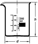 Стакан Н-100 низкий с град. ТС, Boro 3.3