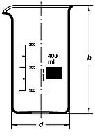 Стакан В-3000 высокий с град. ТС, Boro 3.3