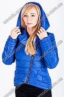 Женская демисезонная куртка - косуха синего цвета Сприн 42