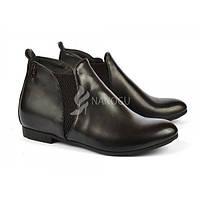 Ботинки женские на низком ходу черные «Clark», Черный, 38