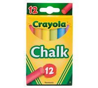 Мел цветной Crayola для школьных досок, мольбертов, флипчартов 12шт, Крайола