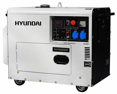 Генератор дизельный Hyundai DHY 8000SE, фото 2