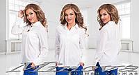 Женская классическая рубашка однотонная