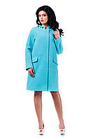 Женское голубое кашемировое осеннее пальто арт. 934 Тон 012