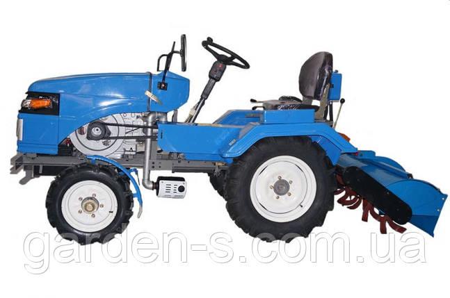 Мототрактор SH120 ZUBR TA-TA с фрезой тракторной, фото 2