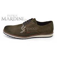 Туфли мужские натуральная замша, хаки Patria Mardini, Германия, Хаки, 43