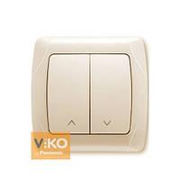 Кнопочный выключатель жалюзи 2-кл. крем ViKO Carmen