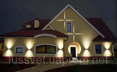 Подсветка фасада частного дома - фотопример