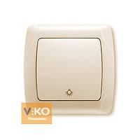 Кнопочный выключатель крем ViKO Carmen