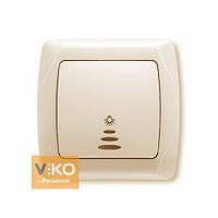 Кнопочный выключатель с подсветкой крем ViKO Carmen