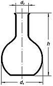 Колба плоскодонная 50мл, без шлифа, Boro 3.3, ТС