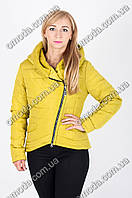 Женская демисезонная куртка - косуха лайм Сприн