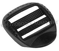 Пряжка 3-х щелевая 25 мм пластик, цв. чёрный, арт. РП/3-2539