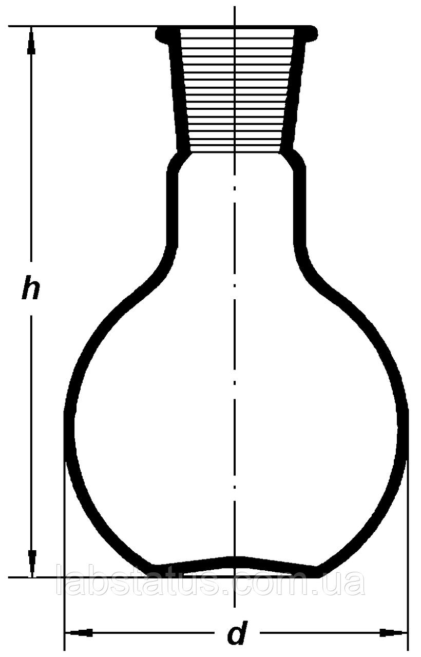 Колба плоскодонная 5000мл, со шлифом 29/32, Boro 3.3, ТС