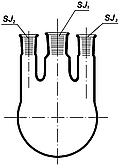 Колба круглодонная с тремя горлов. 250мл, со шлифами 14/29/14, Boro 3.3, ТС