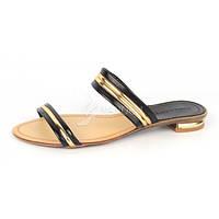 Босоножки женские черные с золотом на каблуке Amazon, Черный, 39