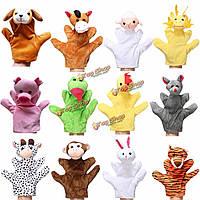 Животное дикая природа мягкий плюш история палец руки перчаточные куклы малыша игрушки детей