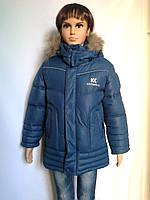 Удлиненная куртка детская зимняя