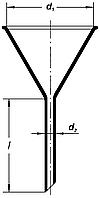 Воронка лабораторная d-40мм, h-40мм, Boro 3.3, ТС