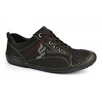 Ботинки мужские кожаные прошитые «Хитч лайн» Польша, Черный, 42