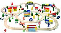 Автодорога ( 100 деталей) Деревянные развивающие игрушки