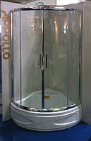 Душевая кабинка со средним поддоном Appollo TS-173 90х90х198 хром/прозрачное