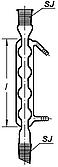 Холодильник шариковый со шлифоми 29-29, L-500мм, 10 шаров, Boro 3.3, ТС