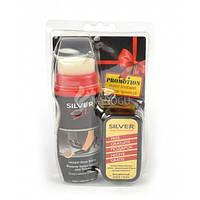 Набор крем-краска для обуви и губка ТМ Silver