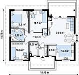 Строительство коттеджей и малоэтажных домов  - Проект Дома № 2,44, фото 2