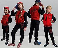"""Детский спортивный костюм """"Бомбер NY"""" р.104-160см"""