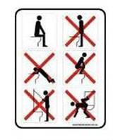 """Табличка """"В туалете заприщенно"""", фото 1"""