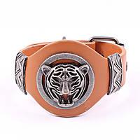 Мужской браслет из кожи Тигр