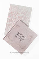 Набор книга пожеланий и папка для свидетельства с эксклюзивным дизайном в розовом цвете