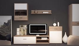 Мебельная стенка  Selena (Селена) цвет сонома + белый