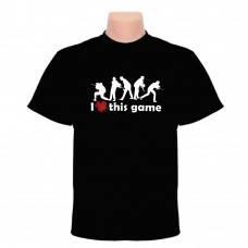 Футболка I love this game (People) Black