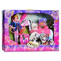 Кукла WX 827 с лошадью, звук 43-9-33см
