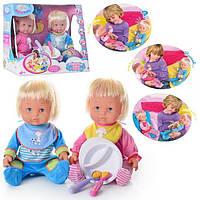 Пупс BB RT 05058 интерактивные малыши. 2 шт, посуда, аксессуары, 3+ 38-32-20см