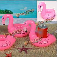 5X Flamingo напиток может надувным плавание Бассейн Пляжный купание держатель может