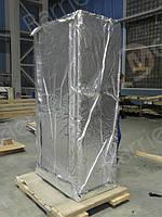 Упаковка авиационного оборудования алюминиевой трехслойной пленкой.