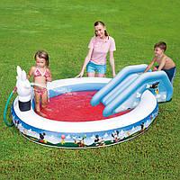 Детский игровой центр-бассейн с горкой BestWay 91014, клуб Микки Мауса